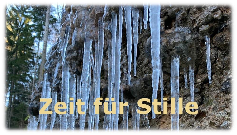 Der Winter ist da, die Zeit für Stille beginnt.